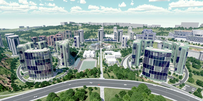 Концепция застройки микрорайона Новый город в районе Зелёного угла г. Владивостока